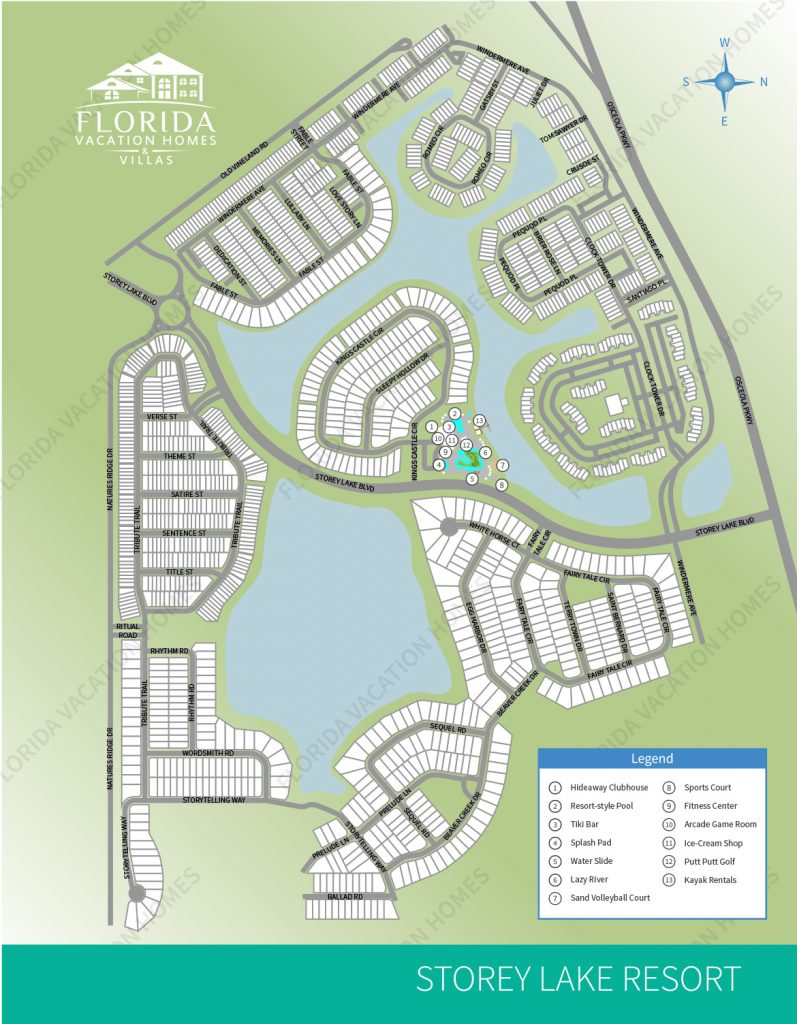 Storey Lake Resort Map