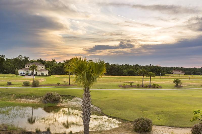 Sundown over Reunion Resort Golf Views