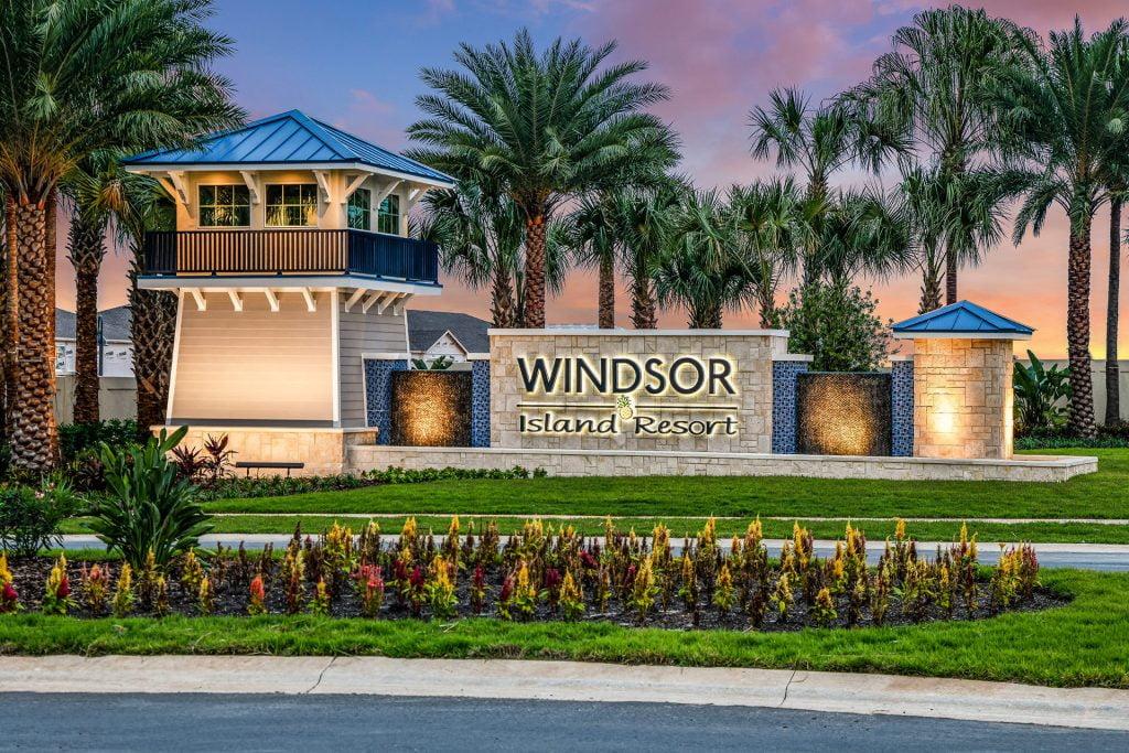 Windsor Island Resort Entrance at Twilight