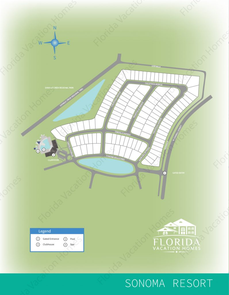 Sonoma Resort Map