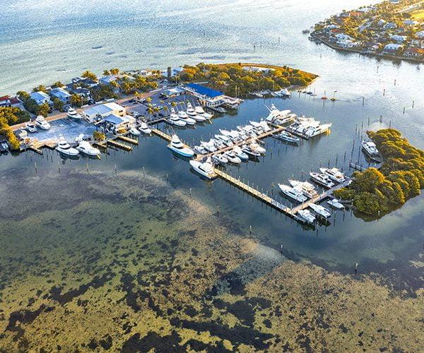 Anna Maria Island Aerial of Harbor
